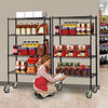 NSF listing black epoxy coated wire shelving