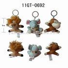 Lovely plush animal keychain - lion, elephant and monkey!