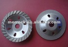 Metal polishing pads for concrete grinding