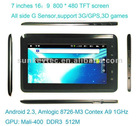 7 inch tablet PC,M70 MID,1080P,support 3G and GPS,3D games