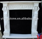 Polished Marble Fire Place