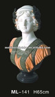 Women mixed color best selling marble bust