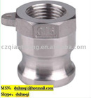 stainless steel ss304 quick socket connector/fluid coupling