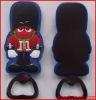 Irish gentleman pvc maganet bottle openers