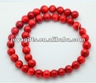 10MM Red Coral Round Beads