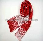 2012 Fashion Cute Snow Flakes christmas scarf Xmas scarves for girl