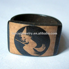 Hand carved ring jewelry witch design ox bone ring