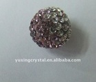 stud earring , crystal pave ball ,