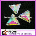 AB crystal triangle glass stone