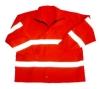 reflective safety raincoat