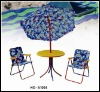 Kids Outdoor Foldable Beach Chair with matchable Umbrella and Table Set
