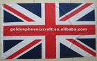 Customized High Quality Large Polyester UK National Flag