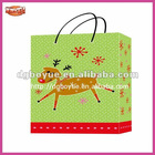 2013 Manufacturing fashion elk green Christmas bag
