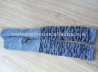 Grey color zebra-stripe design children's leggings