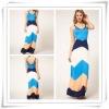 2013 Latest Designer Off Shoulder Gradient Color Prom Dress