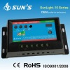 PWM solar charge controller 10A with timer and light control function