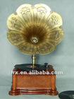 Fanmusic LY-F168 Classic Phonograph, Wooden Gramophone,Antique & chocolate color