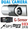 X3000 GPS Dual Cameras car DVR, Car black box with GPS