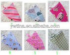 2012 HOT New Arrival Baby Bibs 100%cotton unisex Scottish cashmere triangle Baby sling / scarf / bibs individually wrapped