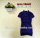 2012 children's/gilrs'/kids' winter short sleeve jacquard velvet dresses