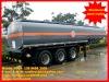 30,000 liter 3 axles chemical liquid semi trailer