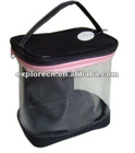clear vinyl pvc zipper bags with handles pvc bag