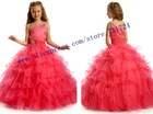 Perfect Angels Begonia One shoulder flower girl dress patterns