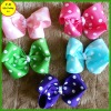 Printing ribbon bow barettes for girls / kids hair accessories (FB013495)