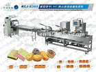 Biscuit cream sandwiching connect packing machine