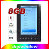 8GB Ebook Reader 7 inch Support 720P Video (DW-E-001)