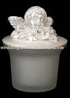 wedding favors Glass Candle with Cherub Head Top