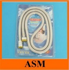 Chromed Flexible Shower Hose with EPDM Inner Hose Brass Nuts