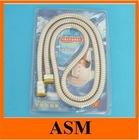 Chromed Flexible Shower Hose with EPDM Inner Hose Brass Nuts