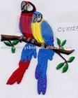 3D cutting embroidered bird clothing accessories applique