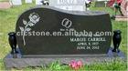 black granite tombstone monument