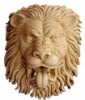 Yellow Sandstone Lion relief