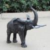 bronze elephant metal statue