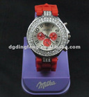 Metal Case Classic Silicone Watch for Lady