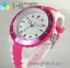 Fashion Colorful Silicone Watch, Jelly Watch