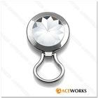 Crystal Eyegalss holder Brooch pin