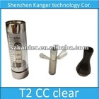 New Arrival CC Clearomizer T2 High quality replaceable coil T2 clearomizer with 510/ego thread