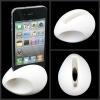 Small shape high quality egg shape silicone speaker loudspeaker/horn for iphone 4 4s