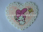 Cute cartoon heart design coasters