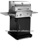 Professional heavy duty Stainless Steel with Powder Coating 2 burners outdoor Gas BBQ grill