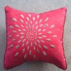 100% cotton embroidery 45*45cm red cushion