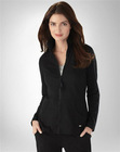 knitted soft organic cotton full length zipper stretch fabric slim mock neck kangaroo pocket lady jacket