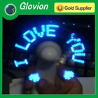 2012 hot sale led mini fans LED color USB mini fan led message usb fan