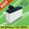 LPFG12-100L gel batteries 12v 100ah for Power station systems