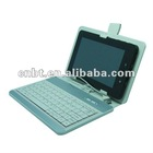 2012 fashion tablet pc pink leather case with keyboard suitable for all 7 inch tablet PC