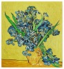 Rep 50*60cm Oil Painting Van Gogh Irises in a Vase